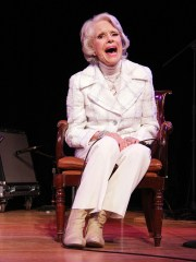 Carol Channing attends the 50th anniversary of Broadway's