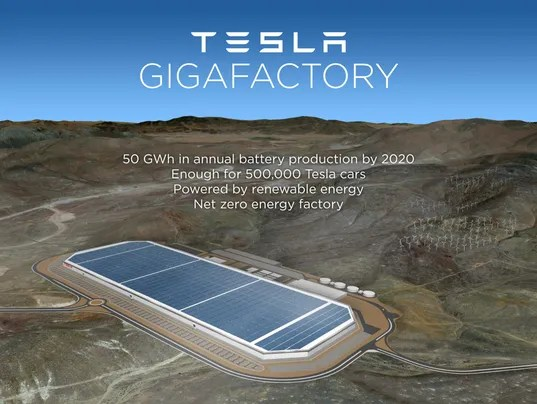Tesla factory rendering