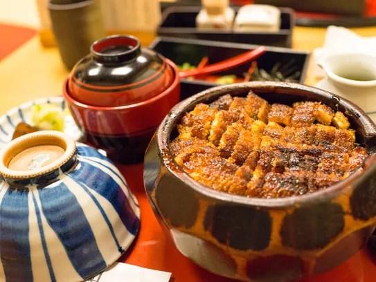 Japanese grilled eel.