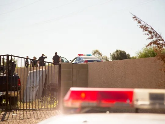 A body was found in a canal that abuts a residential