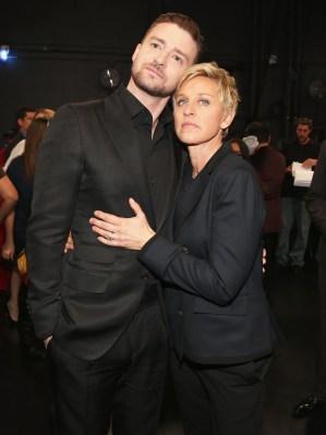 Justin Timberlake and Ellen Degeneres