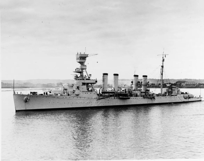 With many sailors ashore on leave, the USS Detroit's remaining crew faced the task of getting their ship into the fight.