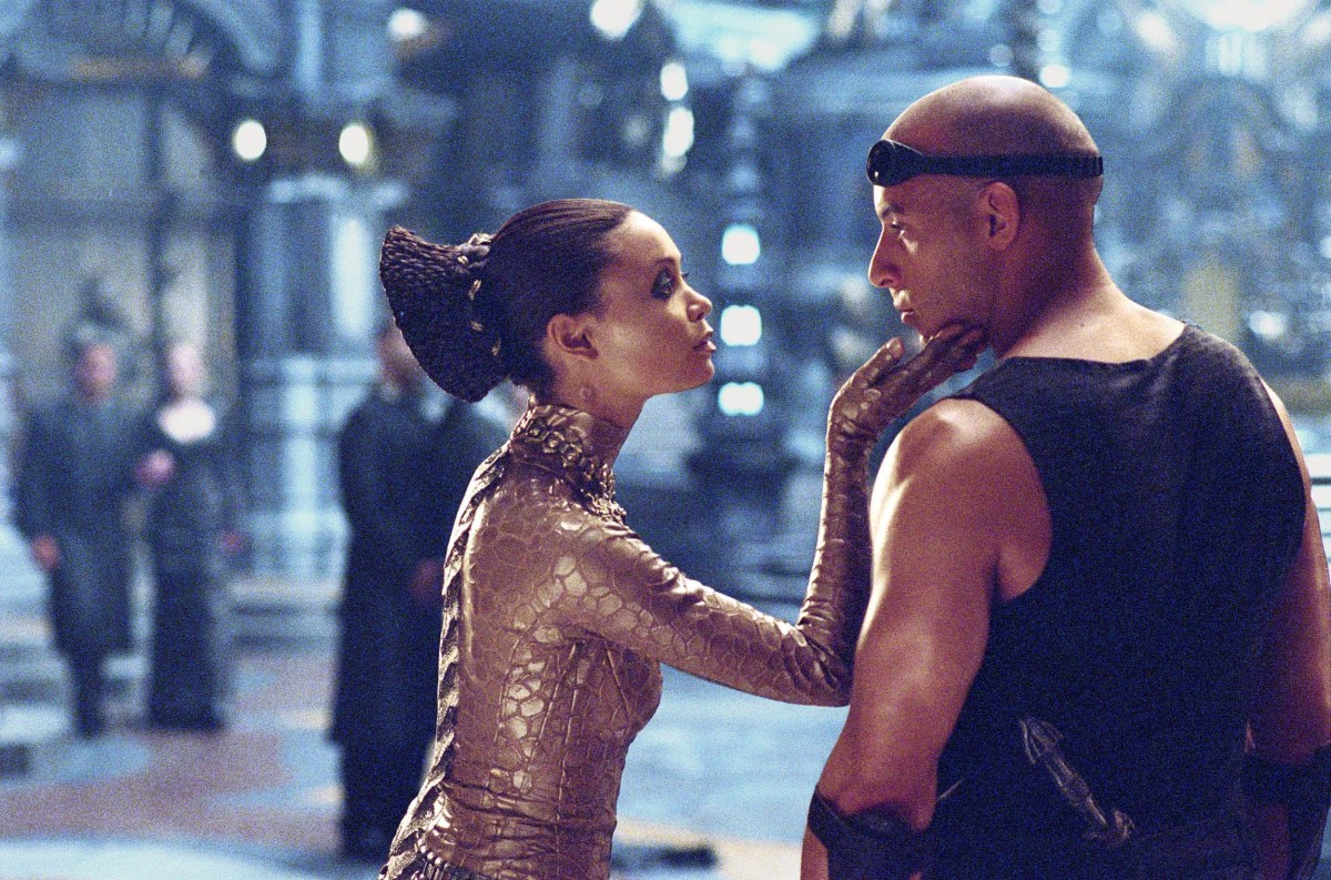 """Thandie Newton and Vin Diesel in a scene from """"The Chronicles of Riddick."""""""