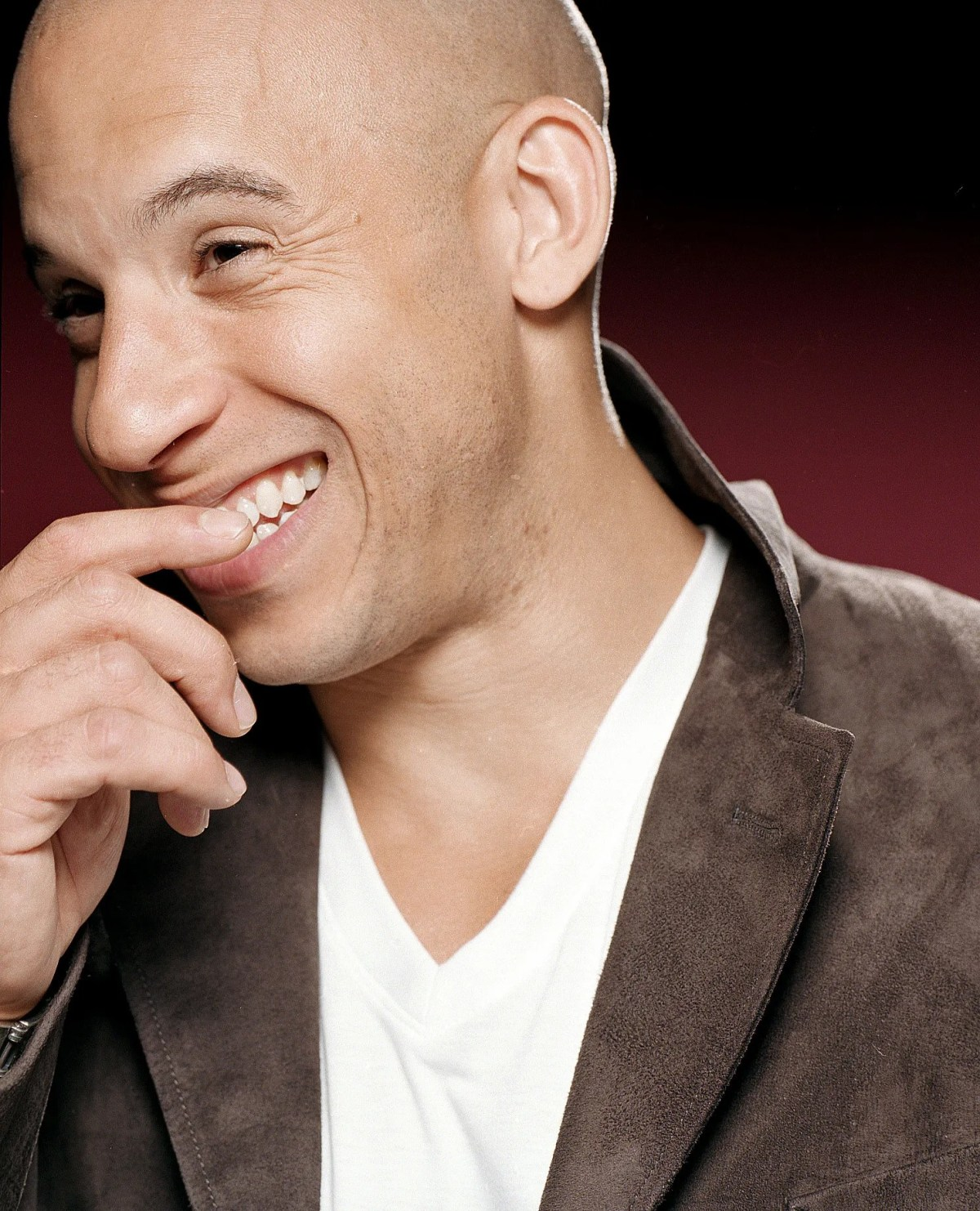 """Vin Diesel is all smiles as he promotes his film """"XXX."""""""