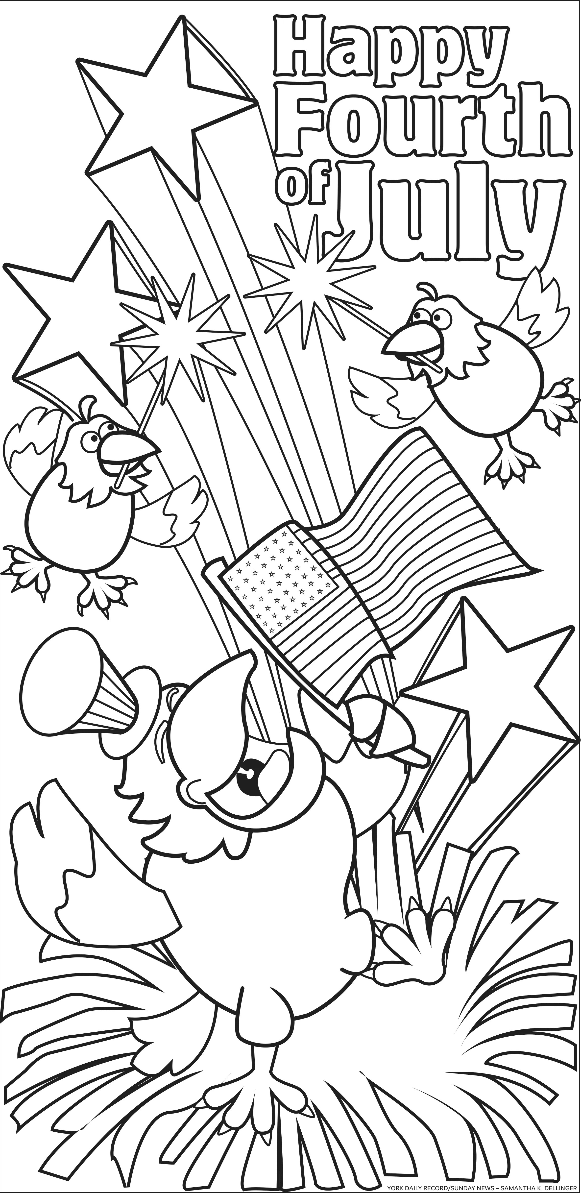 Diy July Fourth Coloring Page