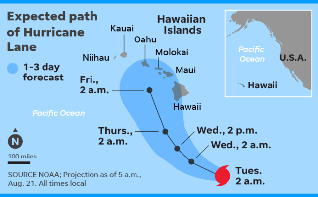 Hurricane Lane grows to Category 5; Hawaii braces for impact