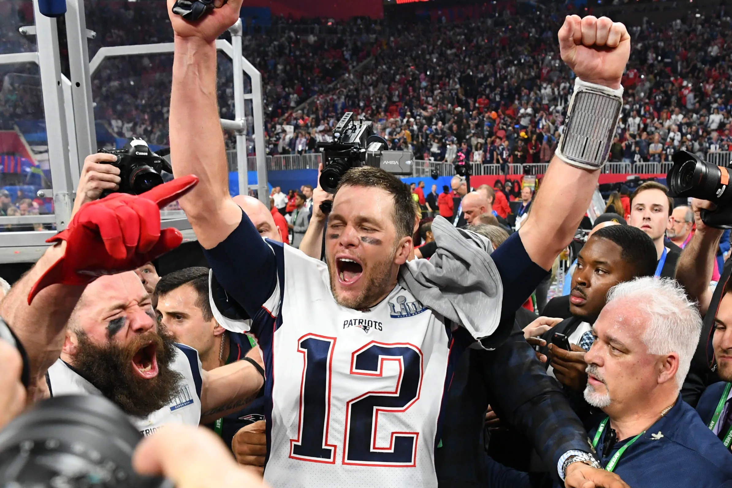 Image result for new england patriots win 2019 super bowl