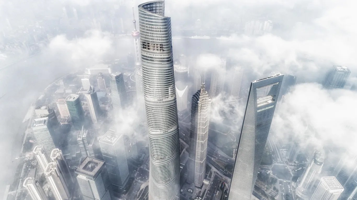 2. Shanghai Tower   • Height:  2,073 feet, 128 floors   • Location:  Shanghai, China   • Use:  hotel and office   • Completed in:  2015
