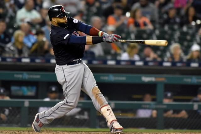 4623a9d8cb5a494aafefe3f1947d359e Bauers hits for the cycle, leads Indians past Tigers 13-4