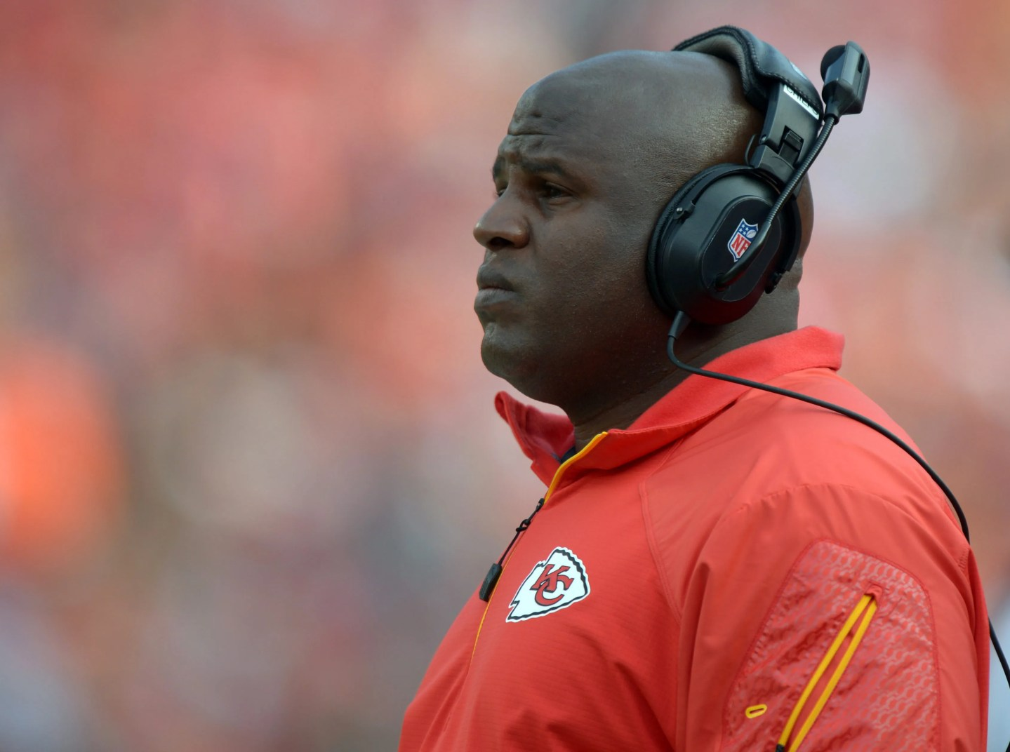 Eric Bieniemy joined the Chiefs as running back coach in 2013.