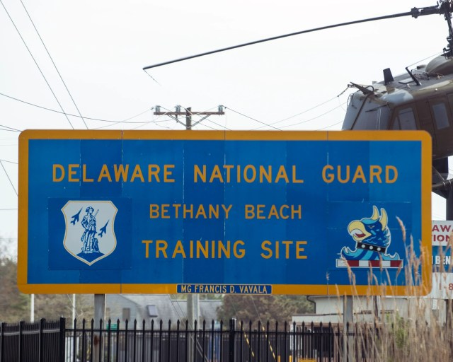 The Delaware National Guard training site in Bethany Beach.