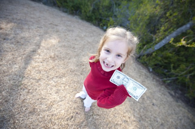 How much does the tooth fairy pay for a lost tooth? It may depend on what's in your wallet