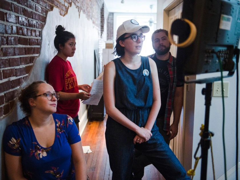 August 7, 2018 - Director Vivian Gray, second from right, works on the set of her as yet untitled short film made possible thanks to a grant from Indie Memphis.