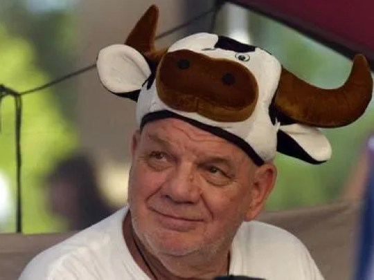 Fans of Chick-fil-a have no beef donning cow gear for a shot at free Chick-fil-a food.