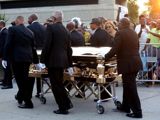 Image result for aretha funeral casket