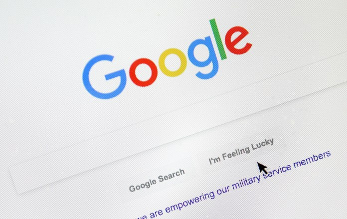 Google's search engine page