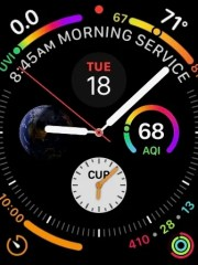 The Infographic watch face for Apple Watch Series 4.