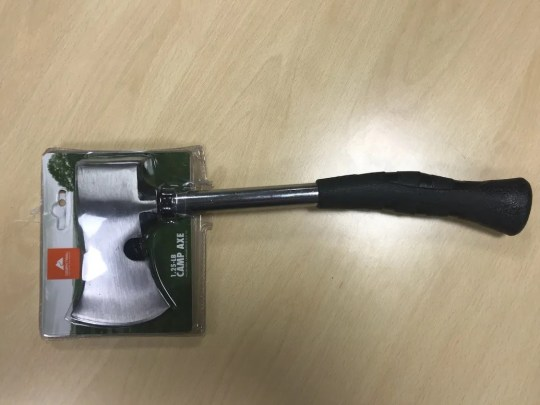 Walmart is recalling Ozark Trail camp axes.