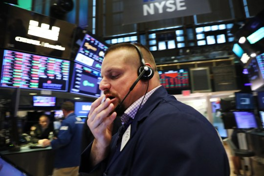 Traders work on the floor of the New York Stock Exchange on Oct. 4, 2018 in New York City.