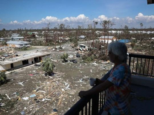 Jim Bob blickt auf die Zerstörung durch Hurrikan Michael in Mexiko Beach, Florida, am Donnerstag, 11. Oktober 2018, zurück. Der Hurrikan traf am Mittwoch, den 10. Oktober 2018, den Florida Panhandle, mit Winden der Kategorie 4, die großen Schaden anrichteten.