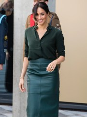Duchess Meghan of Sussex visits University of Chichester's Engineering and Digital Technology Park during an official visit to Sussex on Oct. 3, 2018 in Bognor Regis, England.