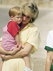 British bookies seem to believe that if Harry, seen here with Princess Diana just before his third birthday in 1987,  has a daughter, she may be named after her late grandmother. But her name is more likely to be passed down than the Spencer gene for red hair.