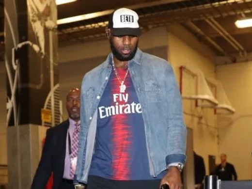 """LeBron James made a statement with his """"Beto"""" hat while arriving at the AT&T Center in San Antonio."""