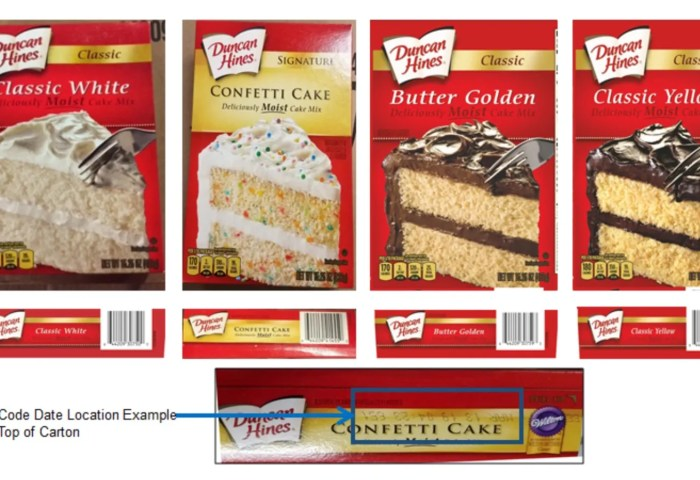 Duncan Hines Recalls Cake Mixes Due To Possible Salmonella