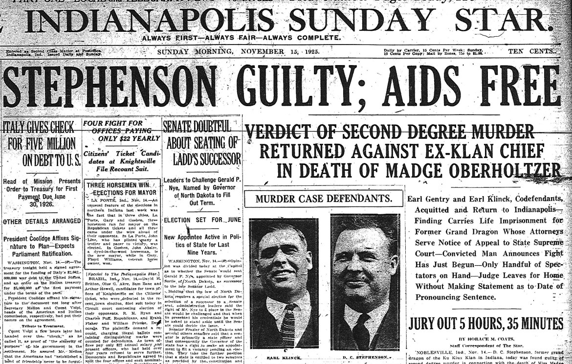 The murder of Madge Oberholtzer: Rape, poison and the KKK