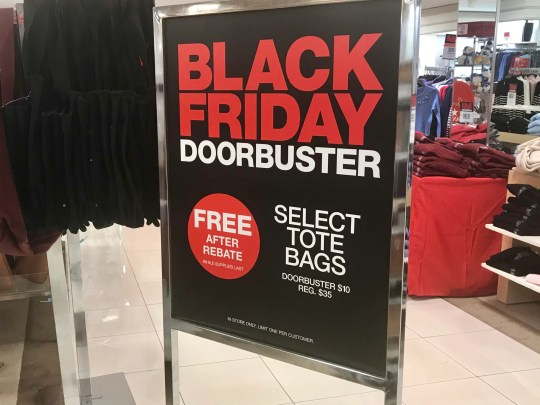Macy's has 12 items free after rebate for its Black Friday sale.