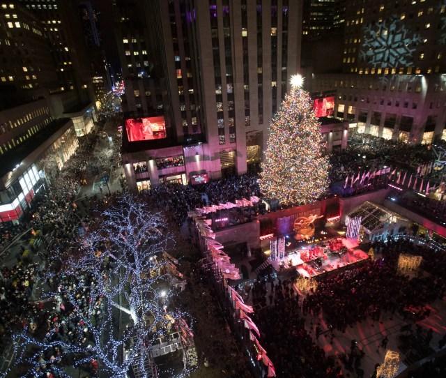 The Rockefeller Center Christmas Tree Is Lit During The Th Annual Rockefeller Center Christmas Tree Lighting