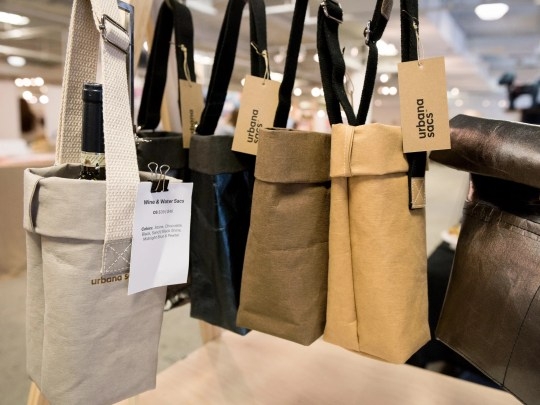 Urbana Sacs creates handcrafted bags and totes made of washable paper.