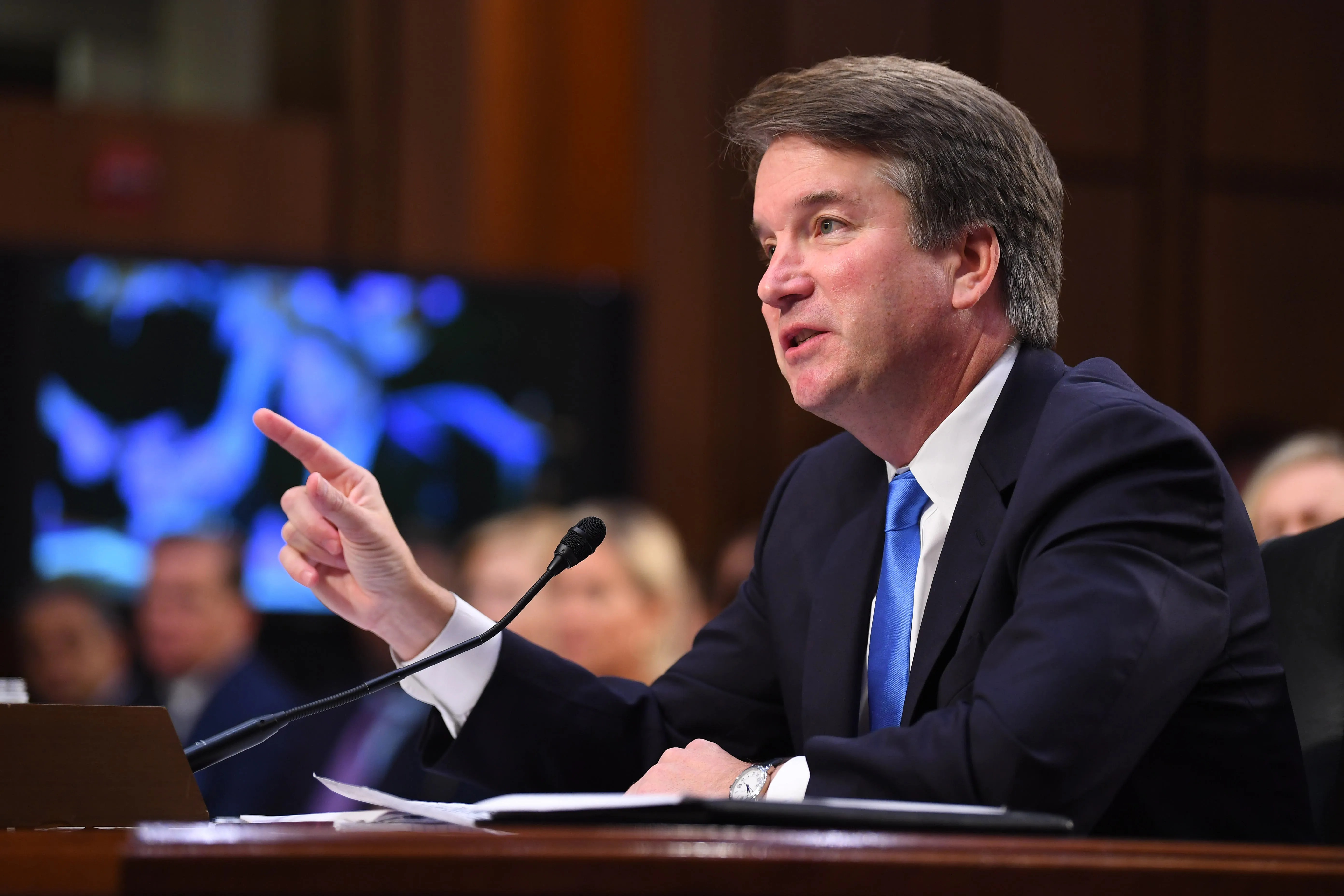 Supreme Court candidate Brett Kavanaugh appears before the Senate Judiciary Committee during its confirmation hearing on September 5, 2018.