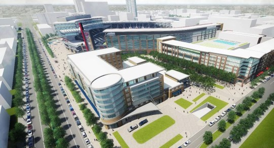 Rendering of the proposed Indy Eleven stadium