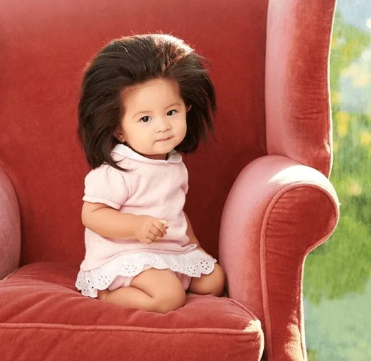 Japanese Baby Chanco is featured in one of Pantene Japan's latest advertising campaigns, celebrating the girl's exceptionally long hair.