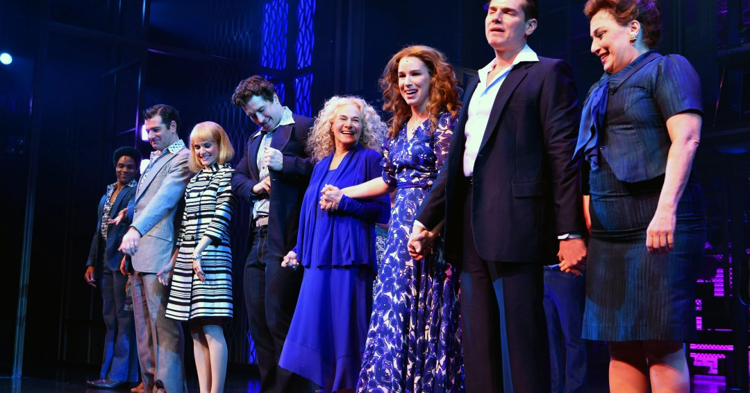 Beautiful! Carole King surprises by showing up as herself in Broadway bio