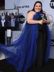 Chrissy Metz backstage at the SAG Awards.