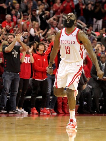 James Harden poured in 40 points for the 18th time this season.