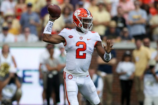 Clemson quarterback Kelly Bryant throws a pass during his team's game against Georgia Tech in 2018.