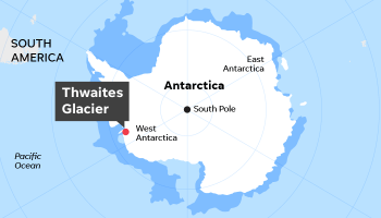 Thwaites Glacier: If hole collapses from global warming, what happens?