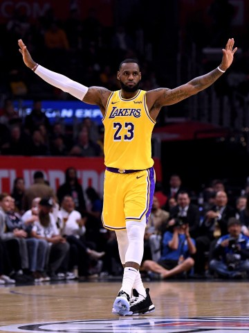 LeBron James was an assist shy of a triple-double in his return to the Lakers lineup.