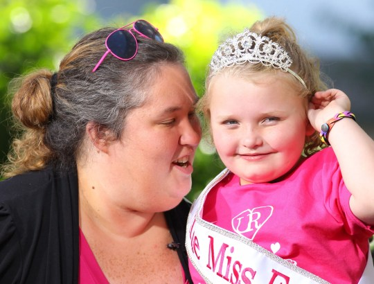 June Shannon and Alana Thompson 'Honey Boo Boo' are seen at The Grove on October 15, 2012 in Los Angeles, California.
