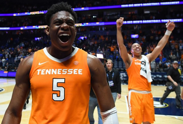 Tennessee (29-5), No. 2 seed in South, at-large bid out of Southeastern Conference. Eliminated in Sweet 16.