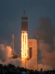 A United Launch Alliance Delta IV Heavy rocket with NASA's Orion spacecraft mounted atop, lifted off from Cape Canaveral Air Force Station's Launch Complex 37 at at 7:05 a.m. EST on Dec. 5, 2014. The uncrewed Orion spacecraft orbited Earth twice, reaching an altitude of approximately 3,600 miles above Earth before splashing down in the Pacific Ocean to complete Exploration Flight Test-1.