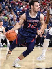 Feb 9, 2019; Spokane, WA, USA; St. Mary's Gaels guard Tommy Kuhse (12) runs the baseline against the Gonzaga Bulldogs in the first half at McCarthey Athletic Center. Mandatory Credit: James Snook-USA TODAY Sports