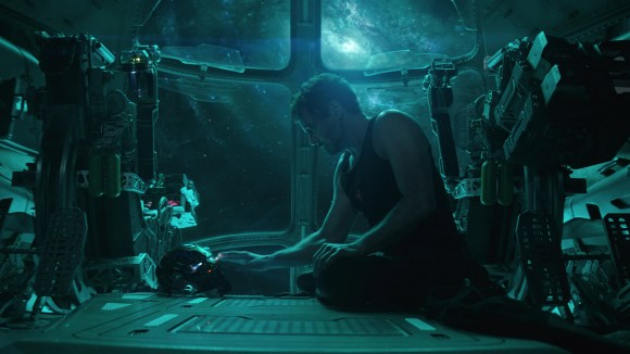 """Tony Stark (Robert Downey Jr.) begins """"Avengers: Endgame"""" stuck in space after a nasty battle with cosmic villain Thanos."""