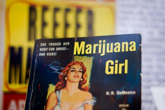 "By the 1930s, cannabis gained criminal and racial associations illustrated at ""Through the Rx Bottle,"" a history of medicinal cannabis at the Lloyd Library and Museum. The government's criminalization of cannabis was formalized with the Marihauana Tax Act of 1937."