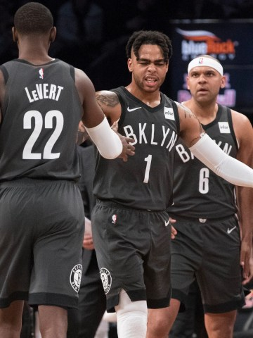 D'Angelo Russell (1) and Caris LeVert (22) have been two key pieces to the Nets' turnaround.