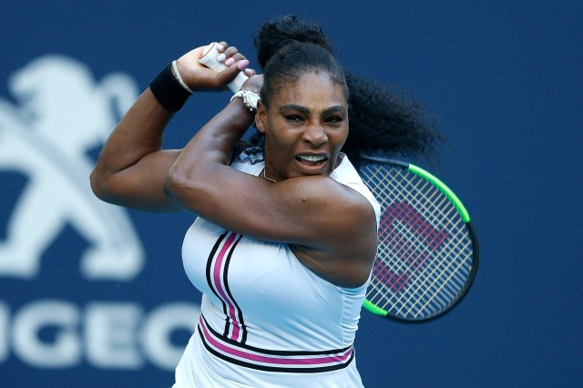 8c32eb5d-1e83-4fea-85b2-7cc6a8c22001-GTY_1137641587 Just like mom: Serena Williams' 1-year-old daughter is a natural with a tennis racket