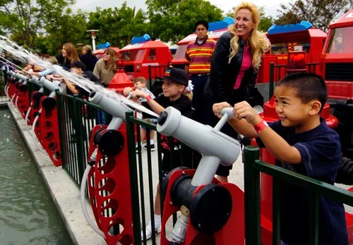 Furious action at the Fun Town Police and Fire Academy at Legoland.